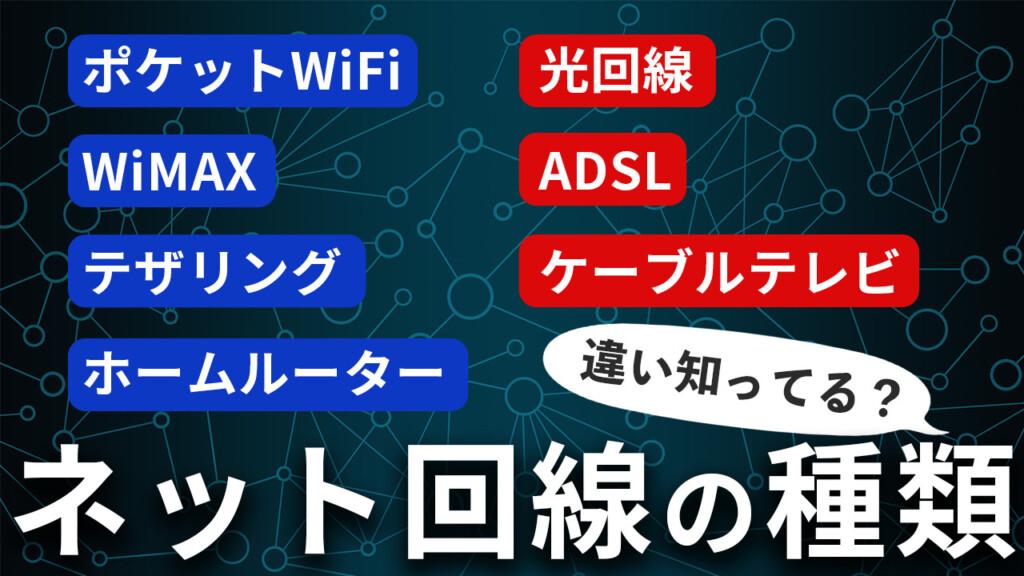 ネット回線の種類